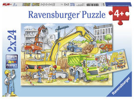 Puzzle muncind din greu, 2x24 piese