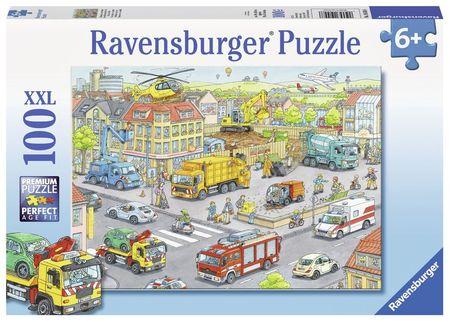 Puzzle Utilaje In Oras, 100 Piese