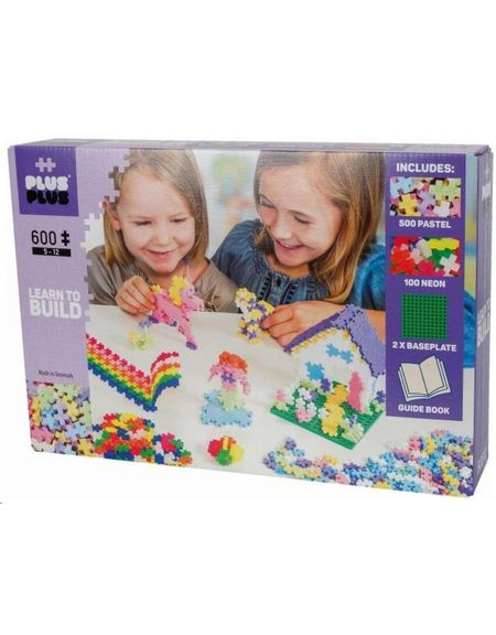 Plus Plus Pastel/Neon-600 Piese/Set