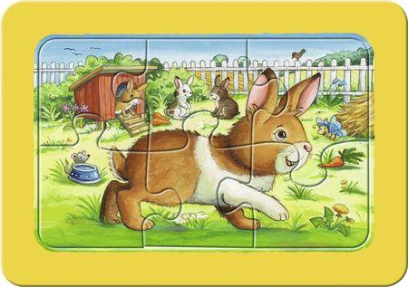 Puzzle Animalute Copii, 3X6 Piese