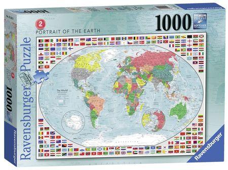 Puzzle Harta Politica A Lumii 2, 1000 Piese