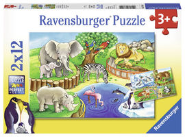 PUZZLE ZOO, 2x12 PIESE