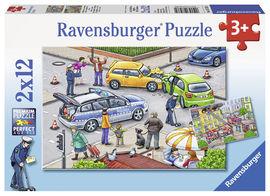 Puzzle politie, 2x12 piese