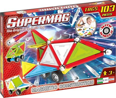Supermag Tags Wheels - Set Constructie 103 Piese