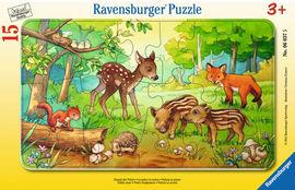 Puzzle animale in padure, 15 piese