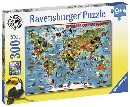 Puzzle Harta Animalelor, 300 Piese