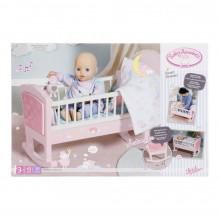 Baby Annabell - Patut cu melodii si sistem de leganare