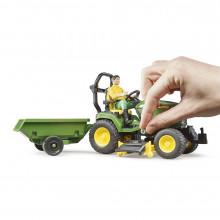Bruder - Tractor Cu Remorca John Deere Si Gradinar
