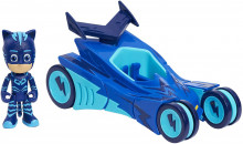 Figurina Pisoi + vehicolul Pisi masina Seria 2 - Eroi in Pijama