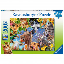 PUZZLE PORTRET CU ANIMALE, 200 PIESE