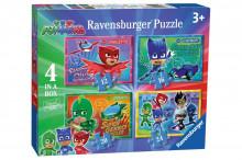Puzzle Ravensburger - Eroi in Pijama, 4 in 1, 12/16/20/24 piese