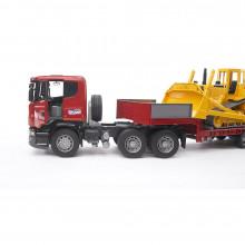 Bruder - Camion Incarcare Scania R-Series Si Buldozer Cat