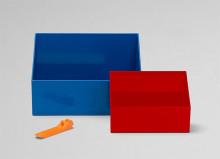 Cutii de strâns piese - albastru ?i ro?u