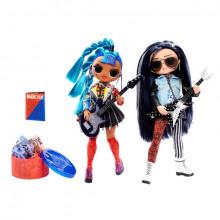 Papusa L.O.L Surprise OMG Remix Rocker Boi si Punk Grrrl 2 Pack