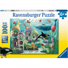 PUZZLE ANIMALE SUBACVATICE, 100 PIESE