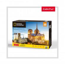 PUZZLE 3D+BROSURA-NOTRE DAME PARIS 128 PIESE