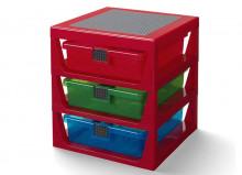 Organizator LEGO cu trei sertare