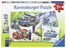 Puzzle politie, 3x49 piese