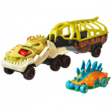 Set Camion Si Masina Sport Hot Wheels Fossil Night
