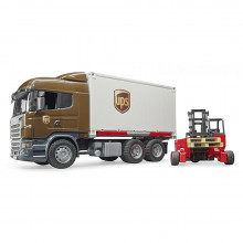 Bruder - Camion Ups Scania R-Series Si Stivuitor