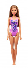Papusa Barbie Satena Cu Costum De Baie Mov