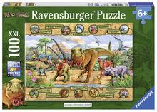 Puzzle dinozauri, 100 piese