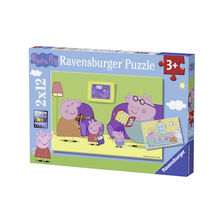 PUZZLE PURCELUSA PEPPA, 2x12 PIESE