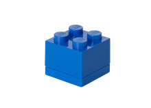 Mini cutie depozitare LEGO 2x2 albastru inchis