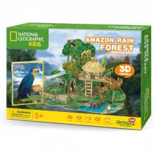 PUZZLE 3D+BROSURA-PADURE AMAZONIANA 67 PIESE