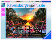 PUZZLE BICICLETE IN AMSTERDAM, 1000 PIESE