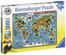 Puzzle Harta Animalelor, 300 Piese