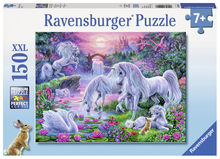 Puzzle Unicorni la apus, 150 piese