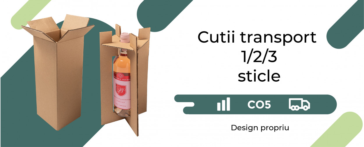 Cutii transport sticle