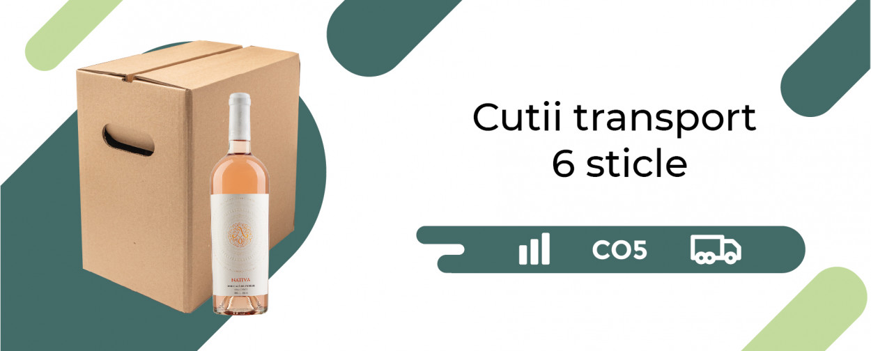 Cutii transport 6 sticle