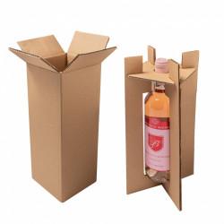 Cutii cu insert transport vin 1/2/3 sticle