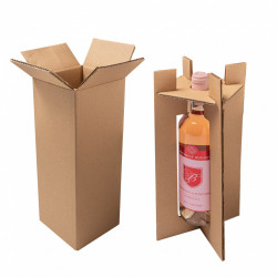 Wine transport box for 1/2/3 bottels