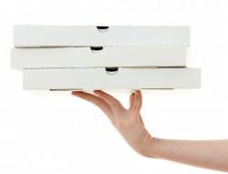 Cutii pizza albe