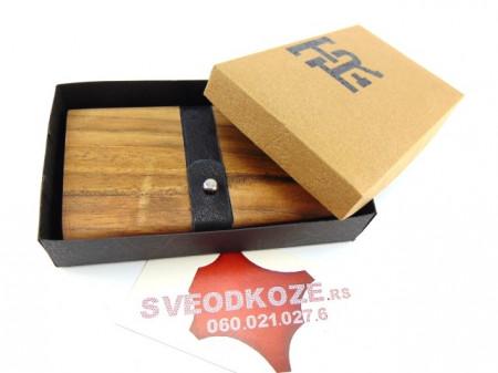 Drveni novčanik futrola orah monolit