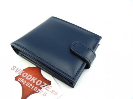 Muški kožni novčanik m4 Teget