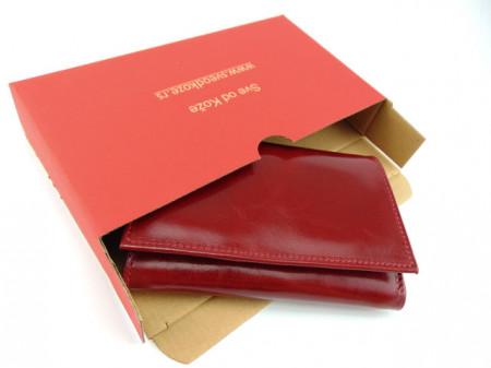 Ženski kožni novčanik Moderna crveni