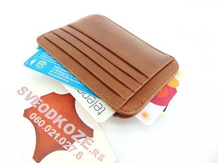 Držač za kartice i novac card holder klasik braon