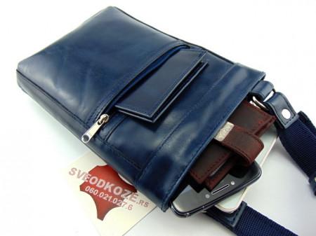 Kožna torbica 9 plava