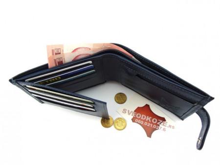 Muški kožni novčanik m3 tamno plavi