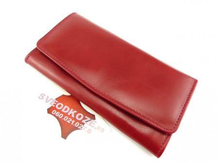 Ženski kožni novčanik 1 crveni ruž