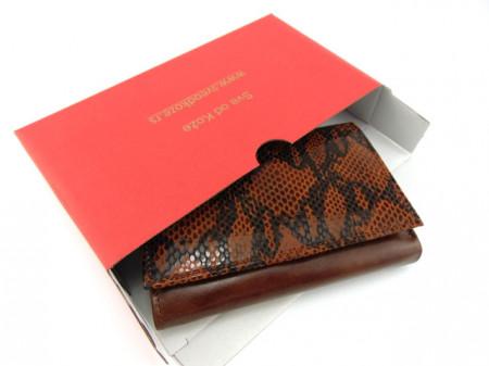 Ženski kožni novčanik Moderna braon zmija