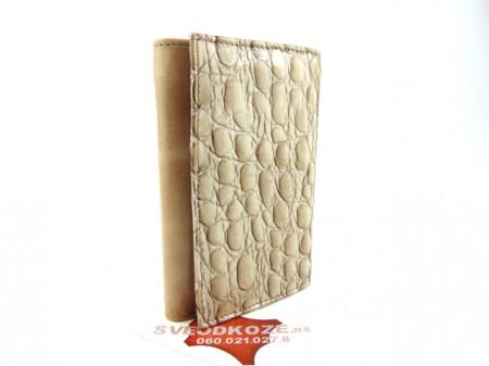 Ženski kožni novčanik Moderna krem koral