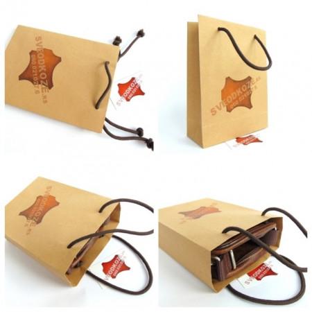 Muška kožna torba 4 čokolada