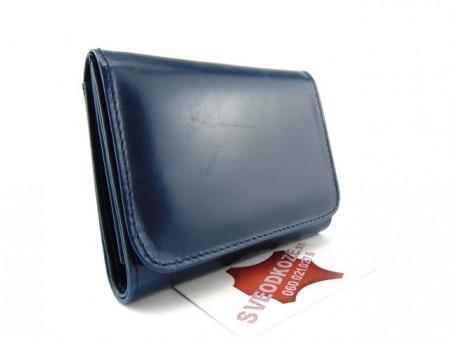 Plavi ženski kožni novčanik Mini Mo