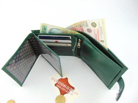 Veliki kožni novčanik KING zeleni