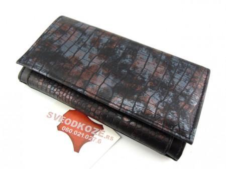 Veliki ženski kožni novčanik Dark ART